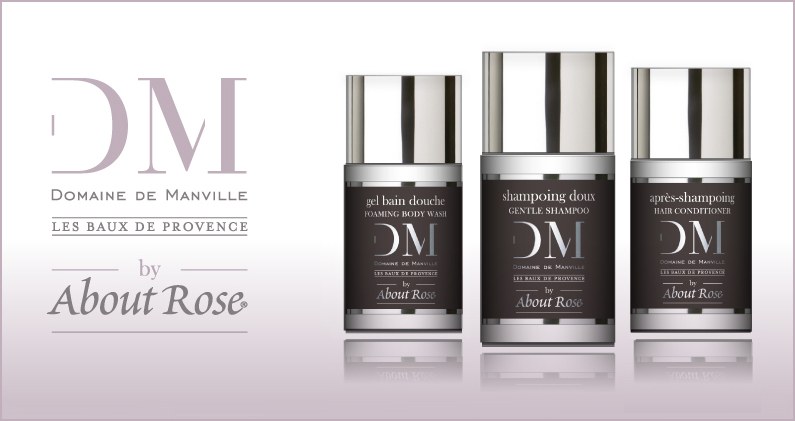 Le prestigieux hôtel et spa Domaine de Manville est heureux d'offrir à ses clients une nouvelle gamme de produits d'accueil de luxe issue d'une collaboration avec la maison de parfumerie HD Fragrances | About Rose