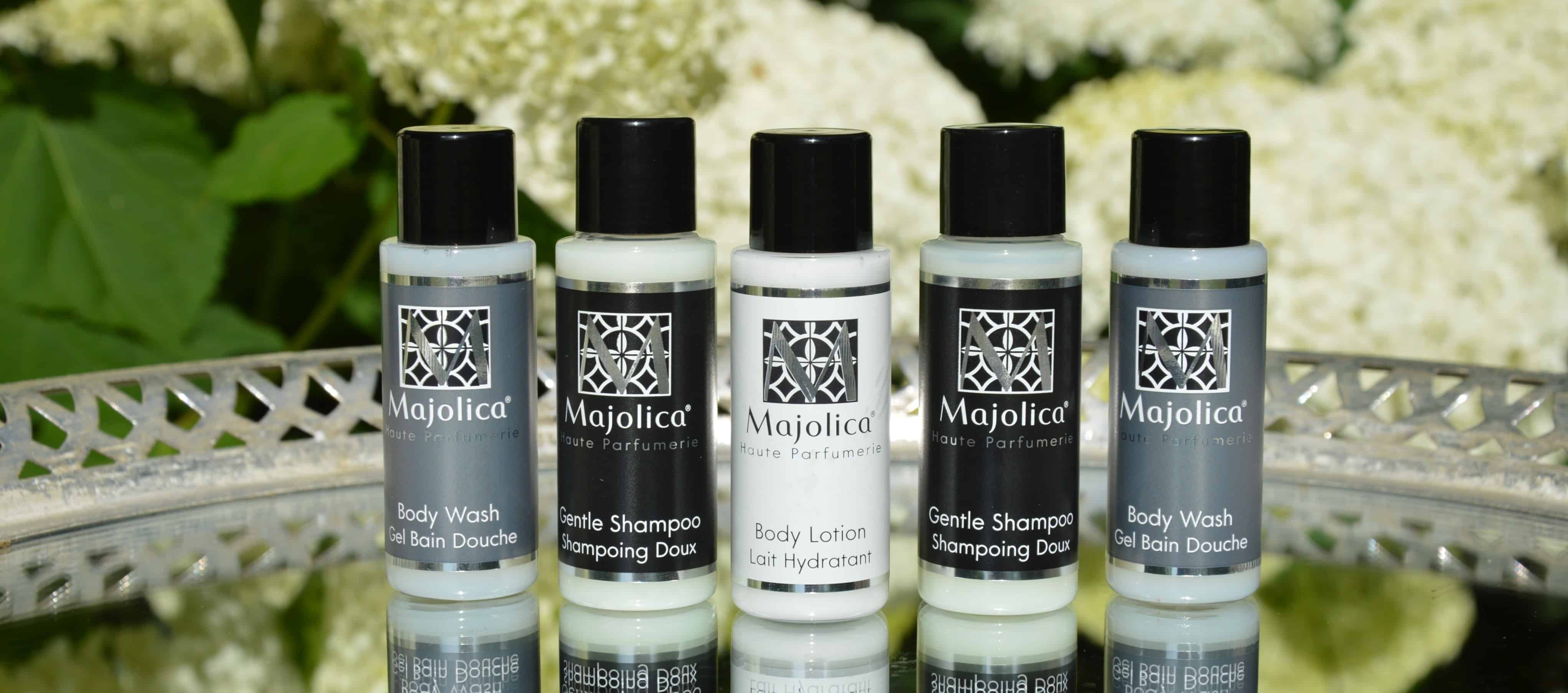 Majolica Noir Luxury Guest Toiletries