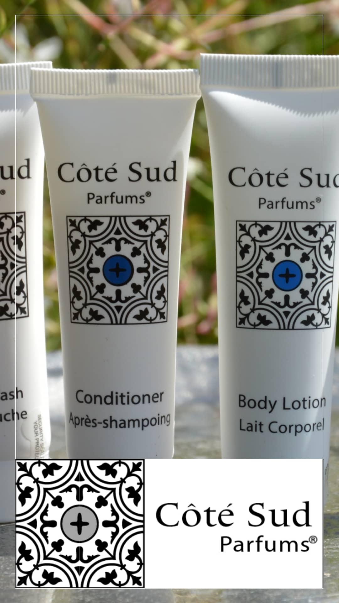 Produits d'accueils pour hotels de charme - gamme Côté Sud par HD Fragrances