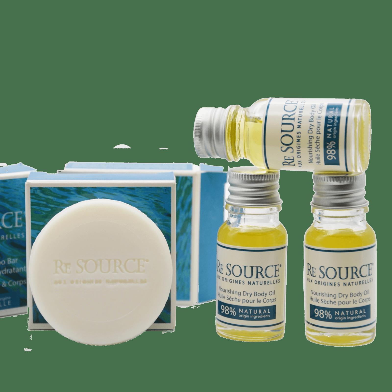 Shampoing Solide pour hôtels - Solution durable sans plastique - produits d'accueil solides, naturels et zero plastique - RE SOURCE