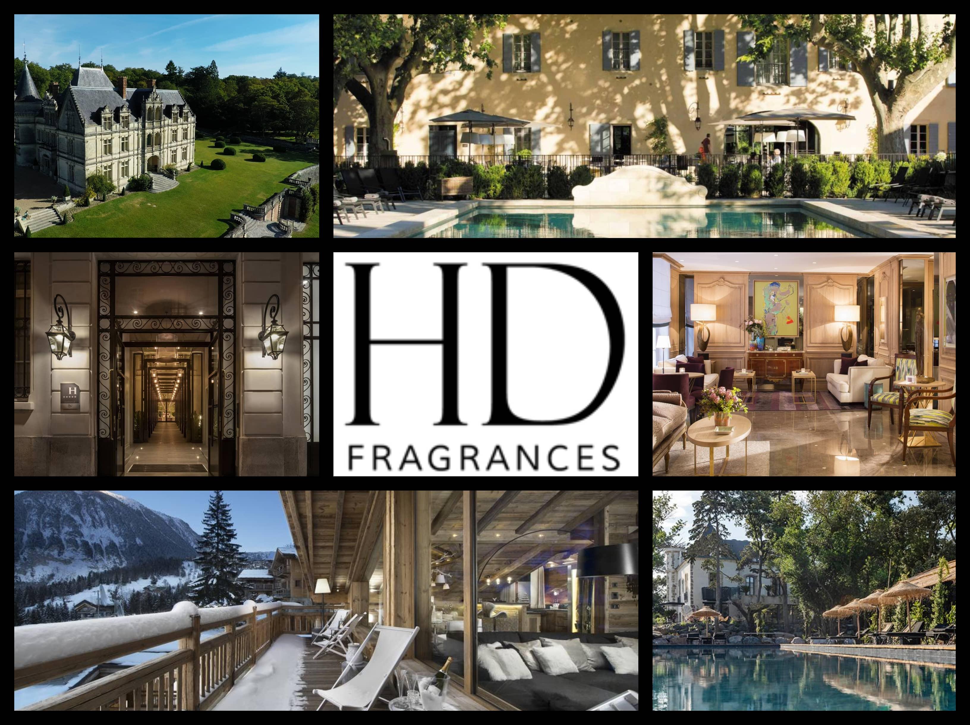 Les cosmétiques de luxe pour l'hôtellerie française | Majolica et About Rose Love Letters | HD Fragrances