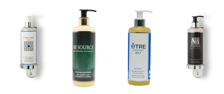 Distributeur mural de shampoing savon pour hôtels