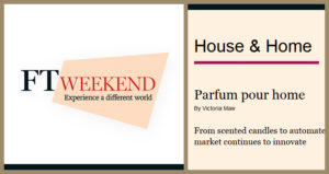 Financial Times features HD Fragrances | Parfum pour home | House and Home Supplement-Sept30-2011