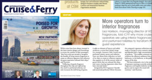 HD Fragrances featured in International Cruise and Ferry Review |Spring-Summer 2015 Edition
