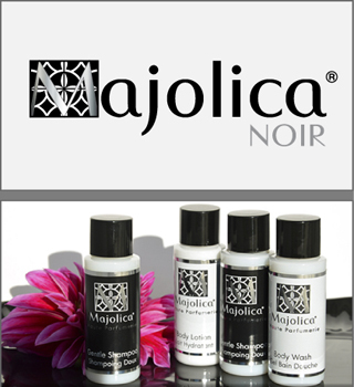 Hotel Toiletries for Boutique Hotels and Cruise Lines by HD Fragrances | Majolica Noir