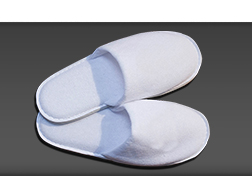Closed Toe Slipper in white towelling 29cm | HD Fragrances
