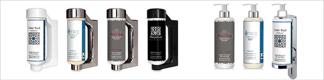 Dispensers by HD Fragrances | Cosmetic dispenser solutions for sustainable hospitality