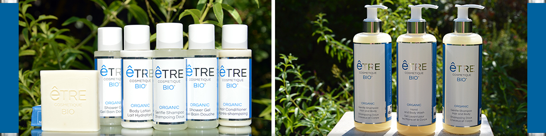 Organic Hotel Toiletries | Discover the ETRE Cosmétique BIO Collection | 30ml, 50ml and 310ml Bottles