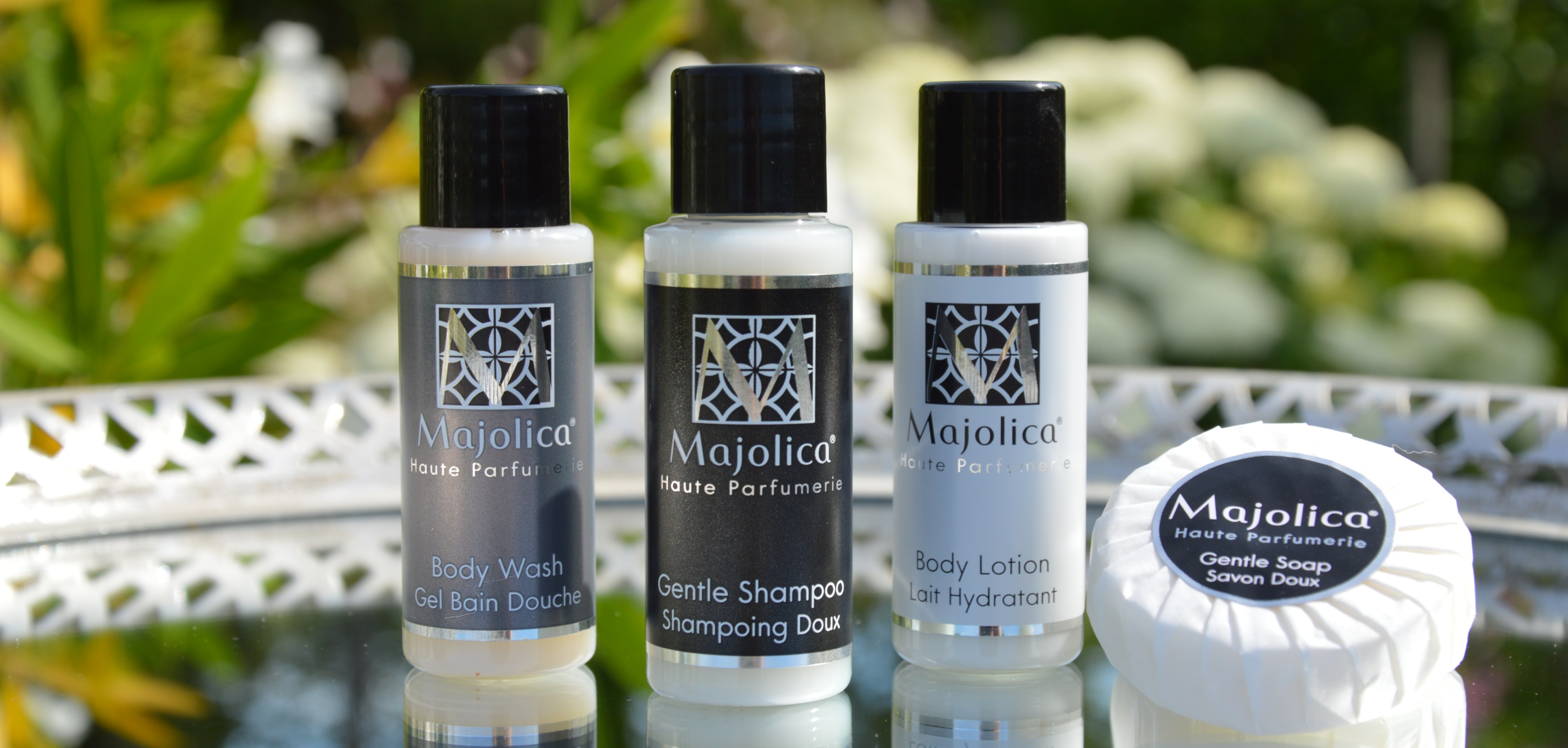 Majolica Noir Luxury Hotel Toiletries Collection | HD Fragrances | Made in Italy