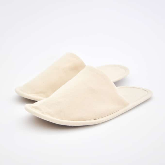 Plastic free cotton guest slippers